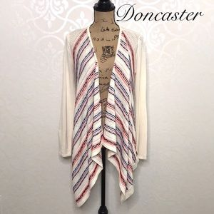 DONCASTER SILK BLEND OPEN FRONT CARDIGAN